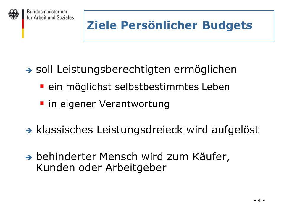 Ziele Persönlicher Budgets