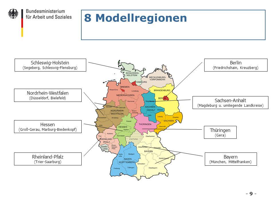 8 Modellregionen Schleswig-Holstein (Segeberg, Schleswig-Flensburg)