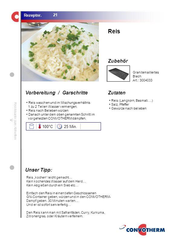 Reis Unser Tipp: 100°C 25 Min. Granitemailliertes Blech Art.: 3004033