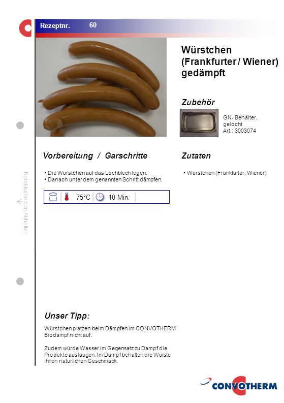 (Frankfurter / Wiener) gedämpft