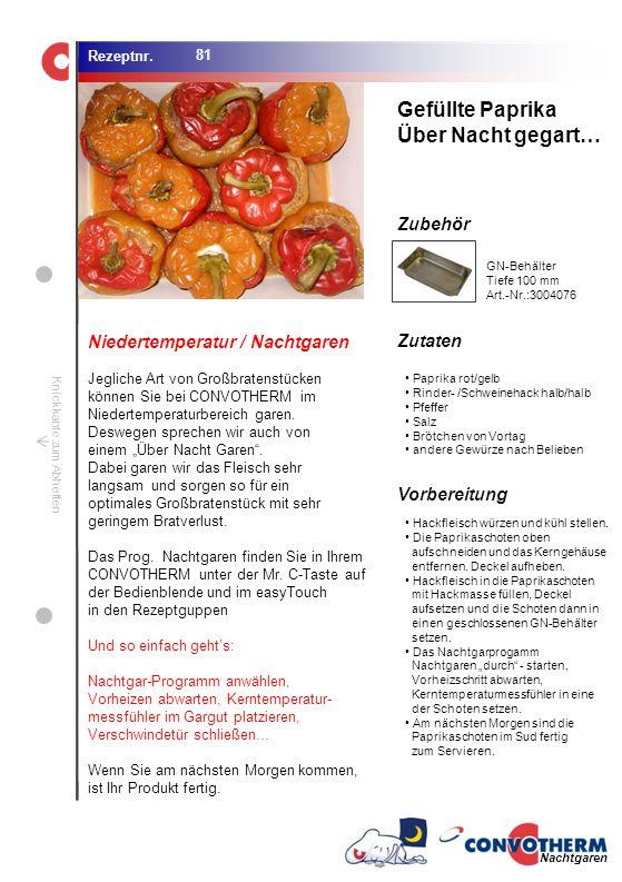 Gefüllte Paprika Über Nacht gegart… Niedertemperatur / Nachtgaren