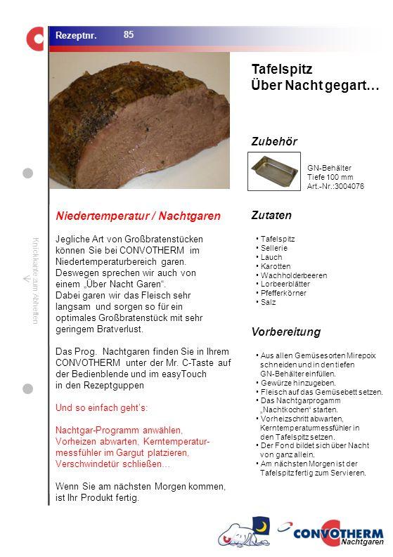 Tafelspitz Über Nacht gegart… Niedertemperatur / Nachtgaren