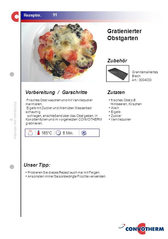 Gratienierter Obstgarten Unser Tipp: 185°C 8 Min.