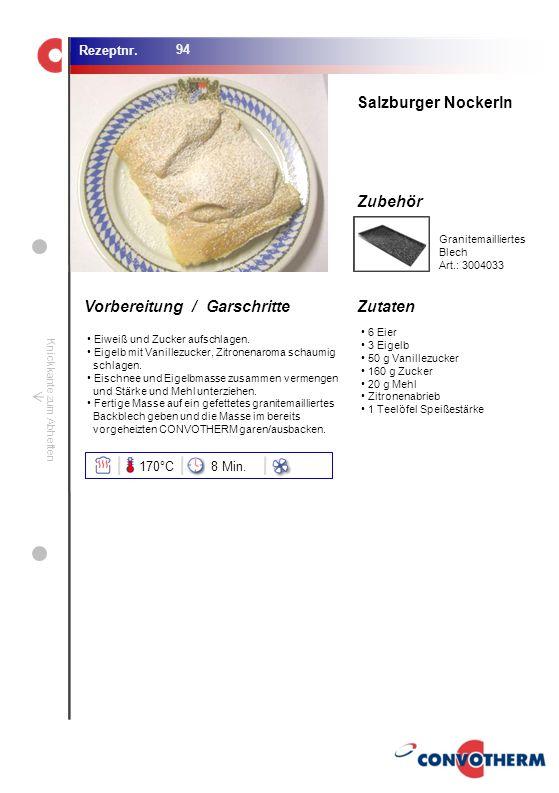 Salzburger Nockerln 170°C 8 Min. Granitemailliertes Blech