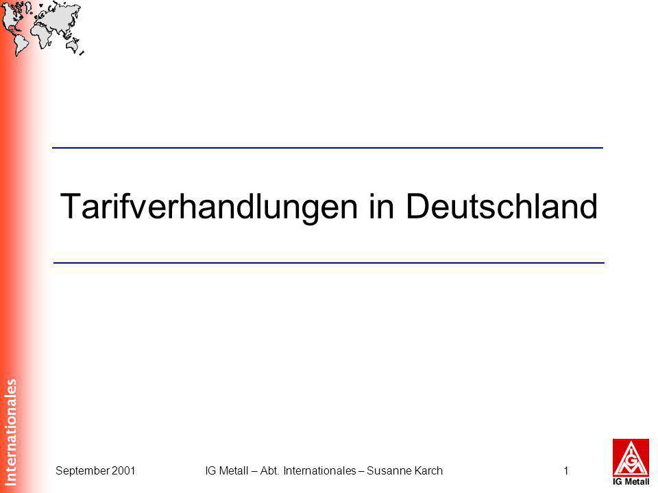 Tarifverhandlungen in Deutschland