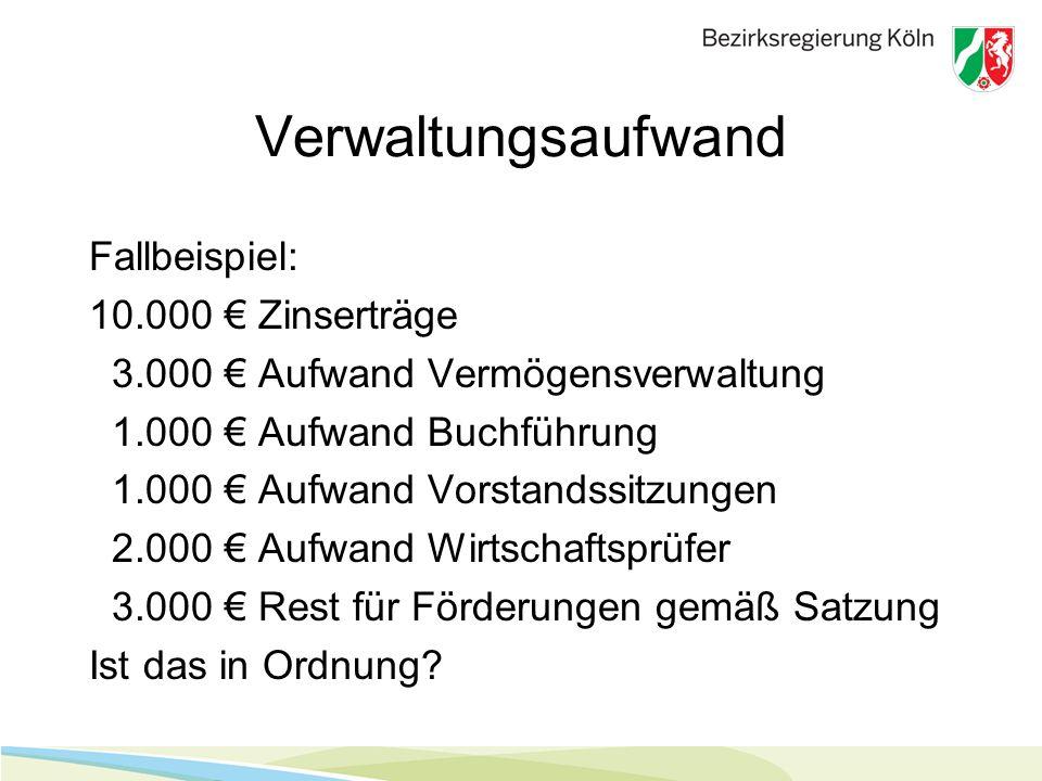 Verwaltungsaufwand Fallbeispiel: 10.000 € Zinserträge