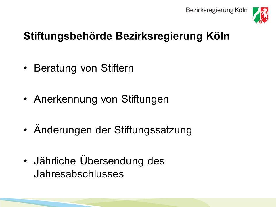 Stiftungsbehörde Bezirksregierung Köln