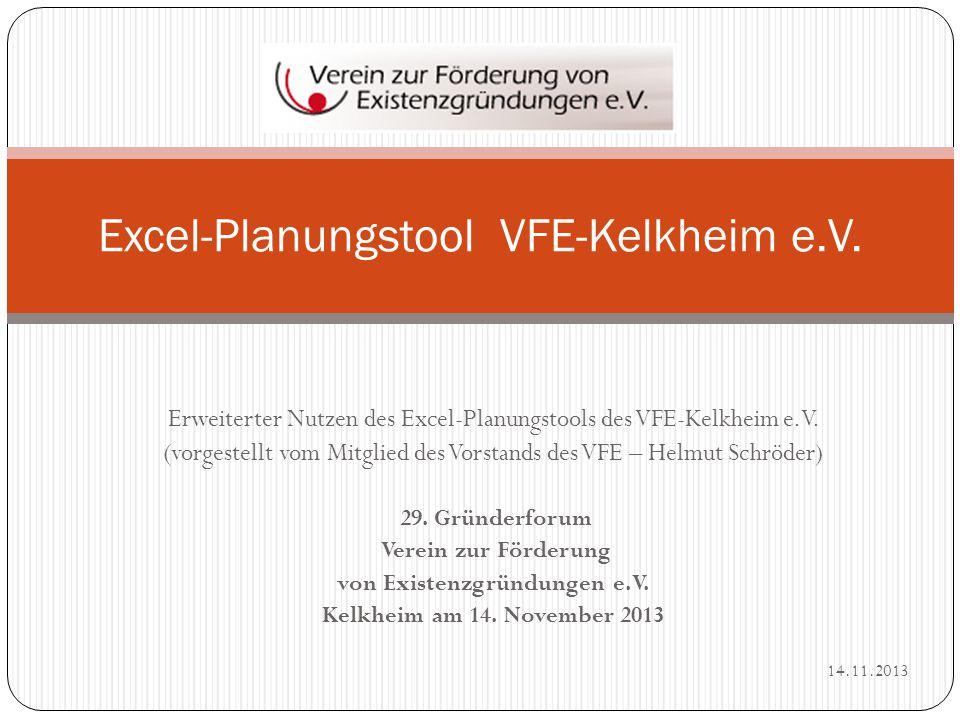 Excel-Planungstool VFE-Kelkheim e.V.