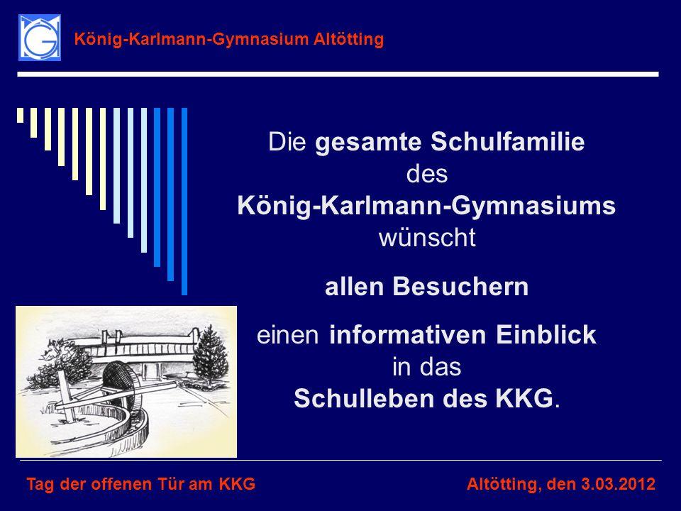 Die gesamte Schulfamilie des König-Karlmann-Gymnasiums wünscht