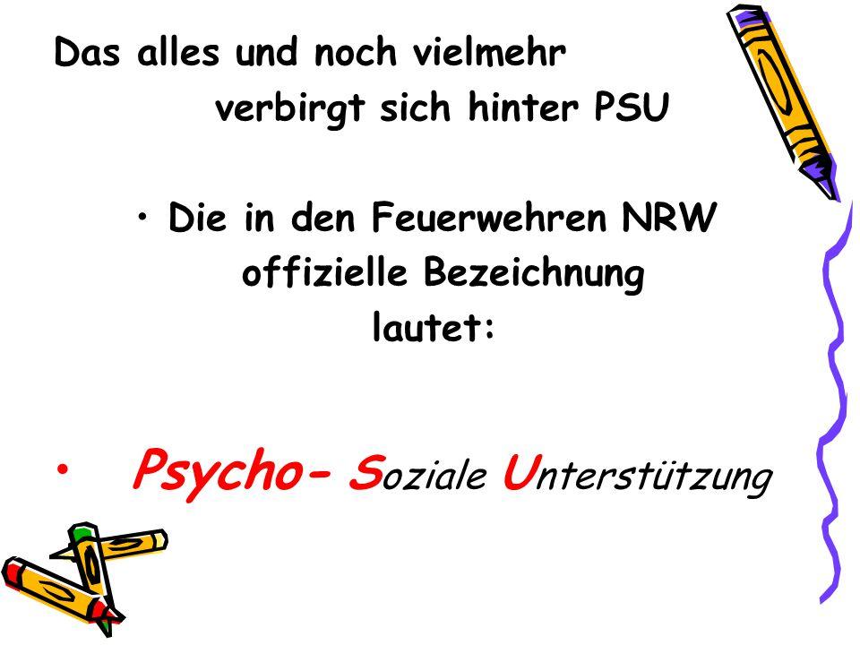 Psycho- Soziale Unterstützung