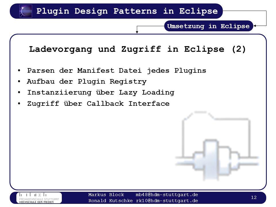 Ladevorgang und Zugriff in Eclipse (2)