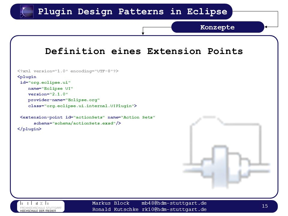 Definition eines Extension Points