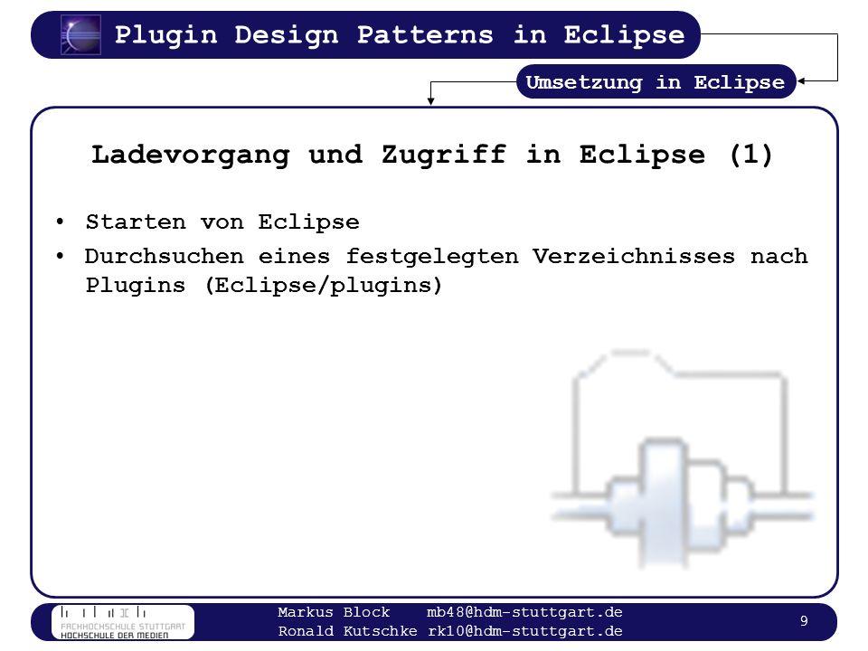 Ladevorgang und Zugriff in Eclipse (1)