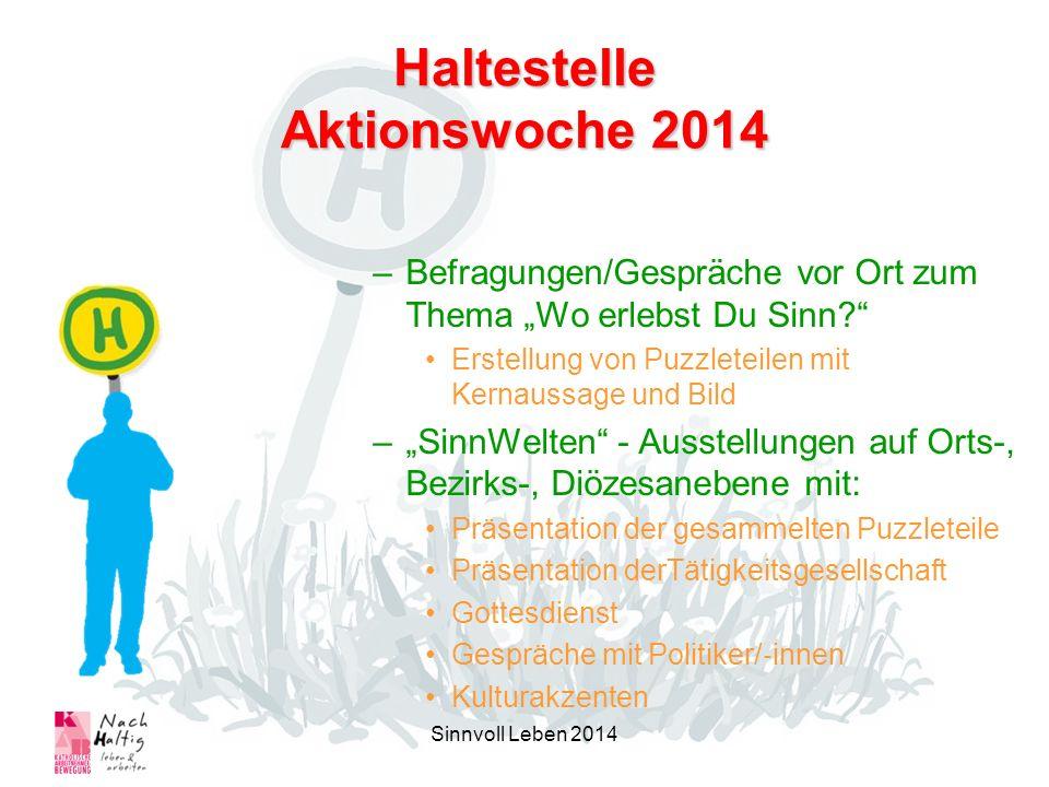 Haltestelle Aktionswoche 2014