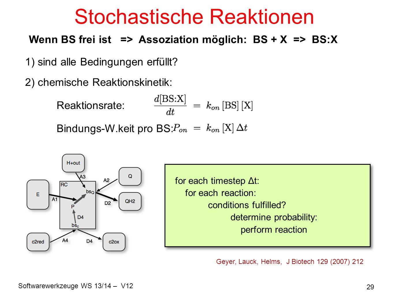 Stochastische Reaktionen