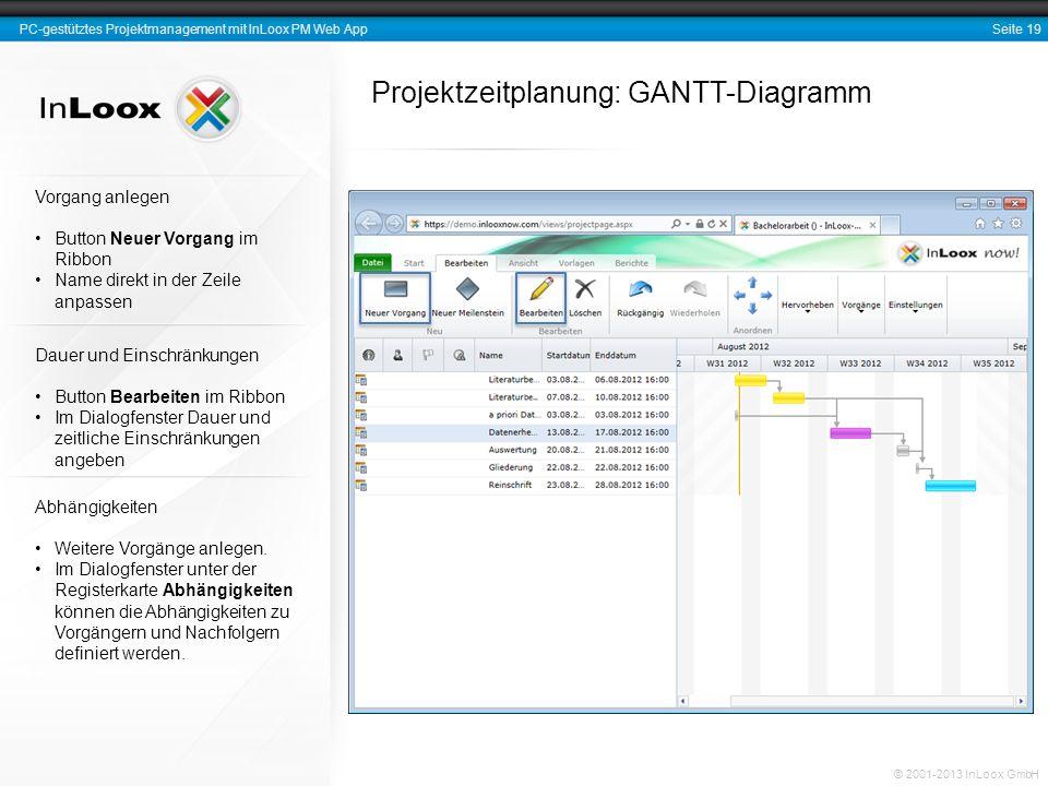 Projektzeitplanung: GANTT-Diagramm