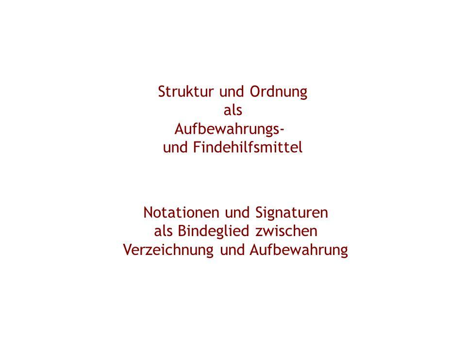 Notationen und Signaturen als Bindeglied zwischen