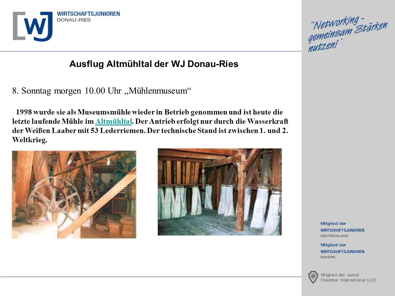 Ausflug Altmühltal der WJ Donau-Ries