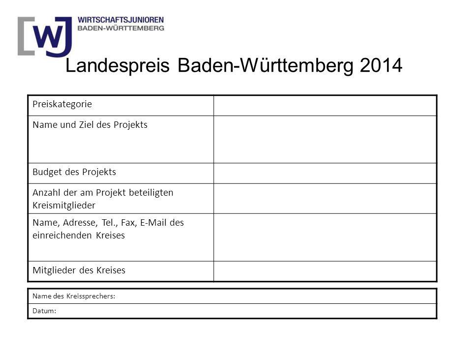 Landespreis Baden-Württemberg 2014