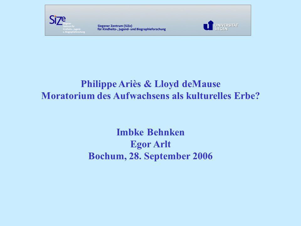 Philippe Ariès & Lloyd deMause