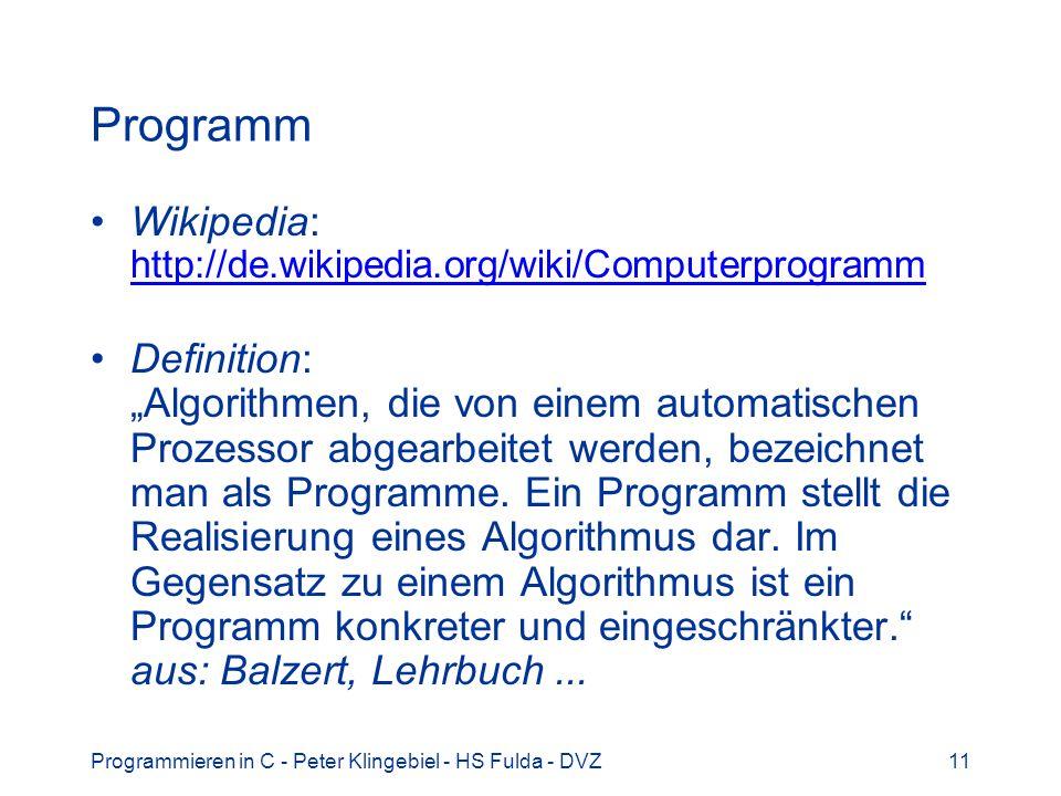 Programm Wikipedia: http://de.wikipedia.org/wiki/Computerprogramm