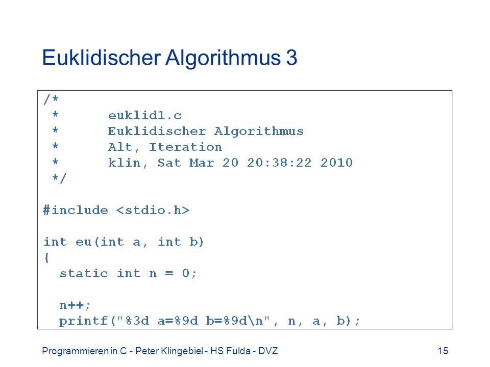 Euklidischer Algorithmus 3