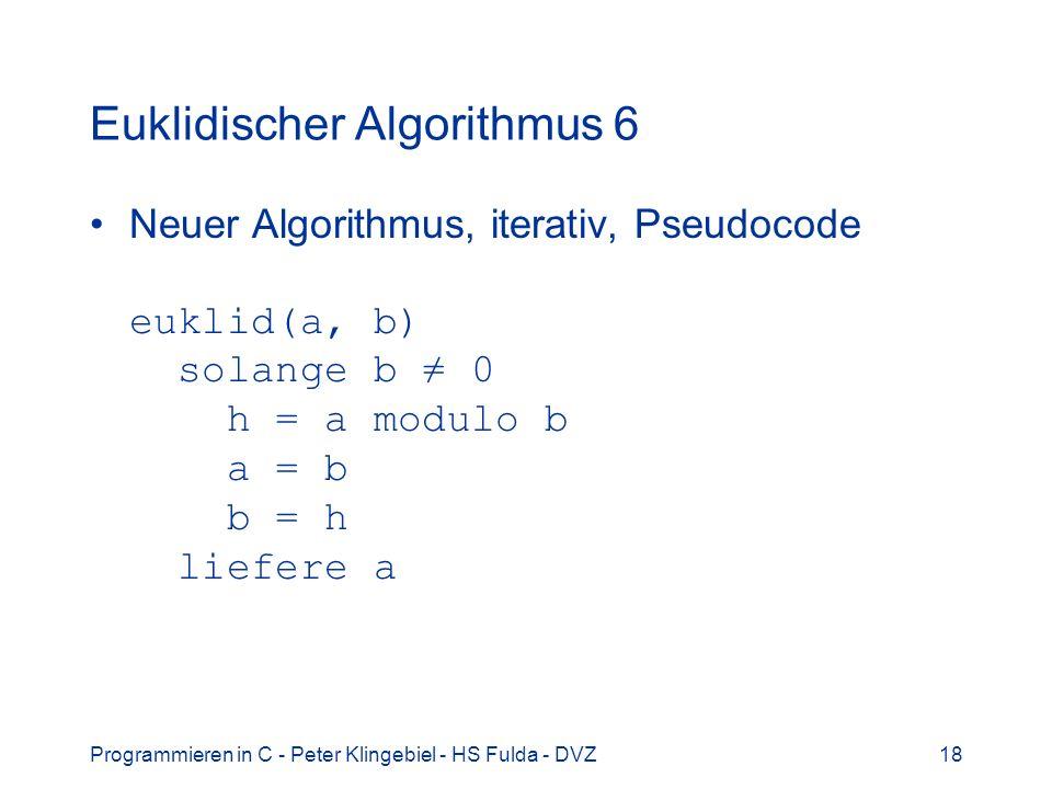 Euklidischer Algorithmus 6