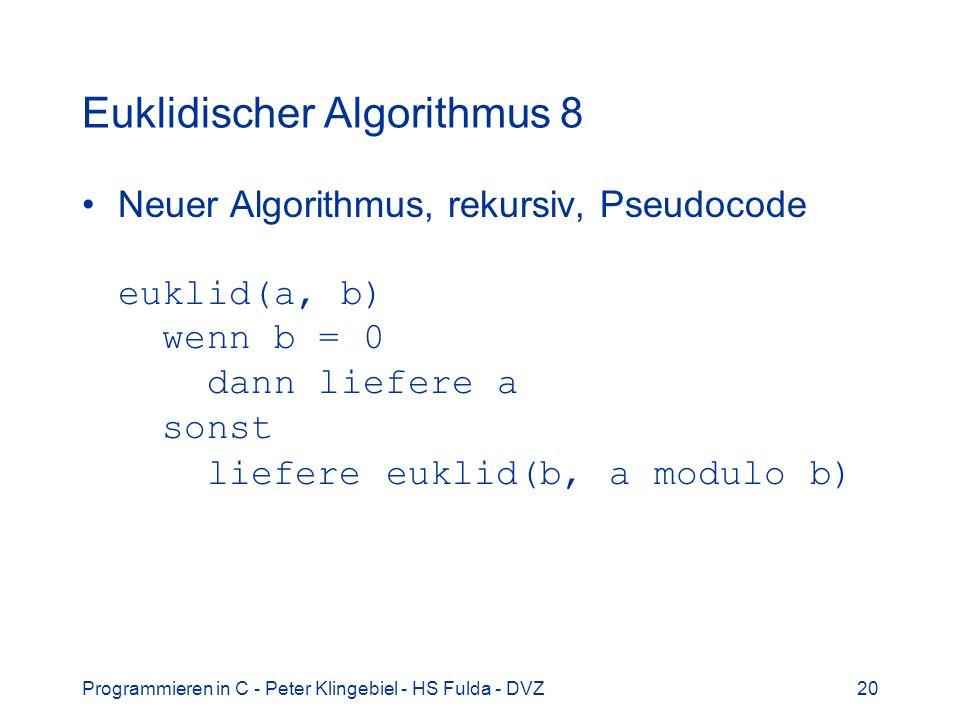 Euklidischer Algorithmus 8