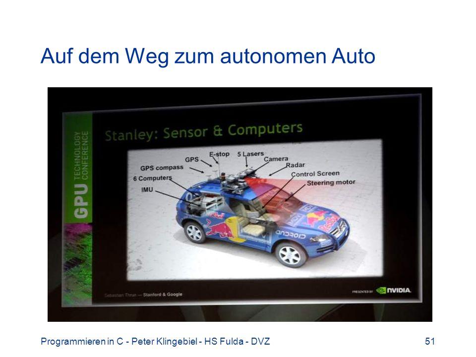 Auf dem Weg zum autonomen Auto