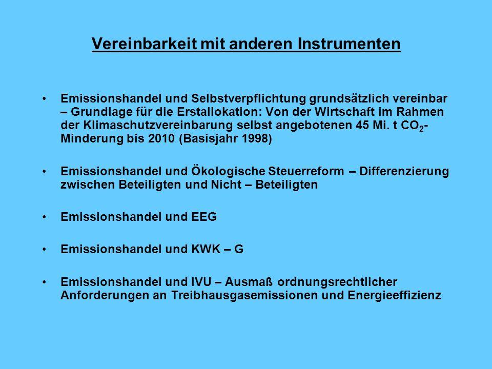 Vereinbarkeit mit anderen Instrumenten