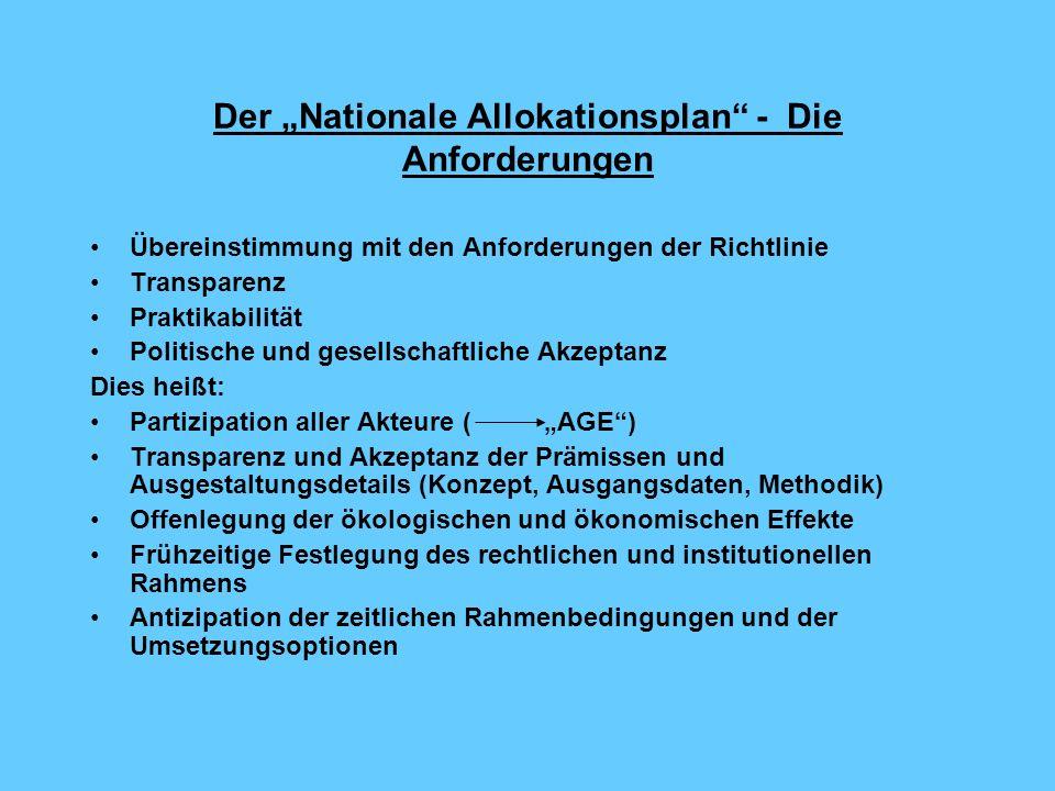 """Der """"Nationale Allokationsplan - Die Anforderungen"""