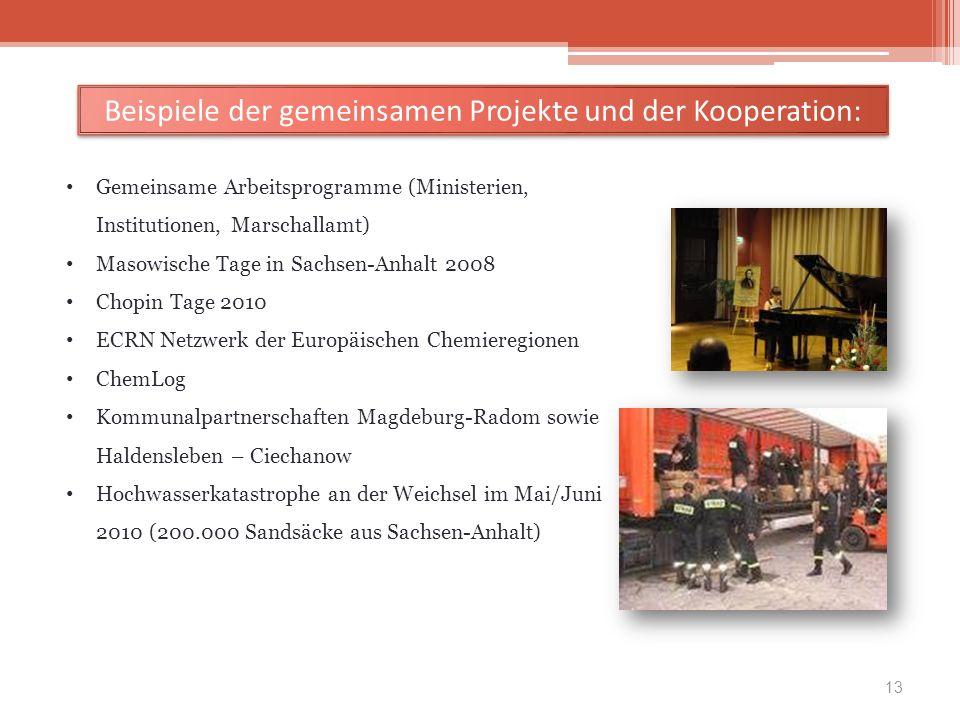 Beispiele der gemeinsamen Projekte und der Kooperation: