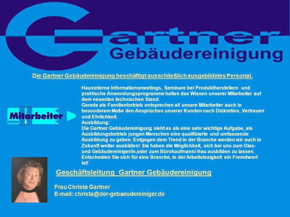 Geschäftsleitung Gartner Gebäudereinigung