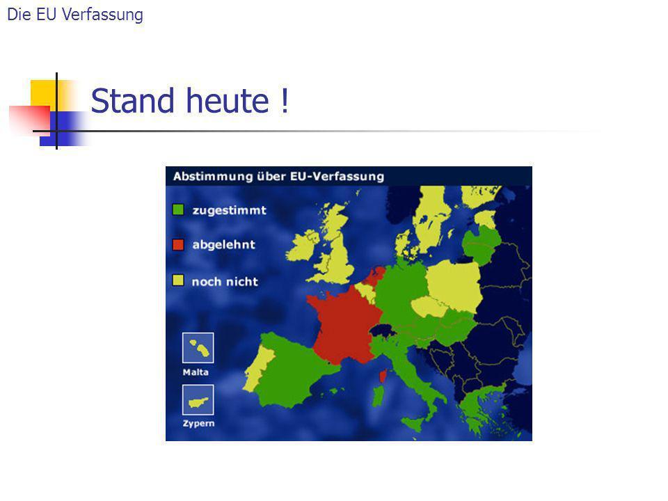 Die EU Verfassung Stand heute !