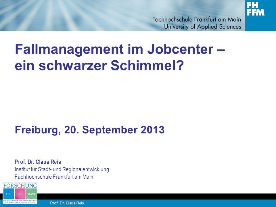 Fallmanagement im Jobcenter – ein schwarzer Schimmel. Freiburg, 20