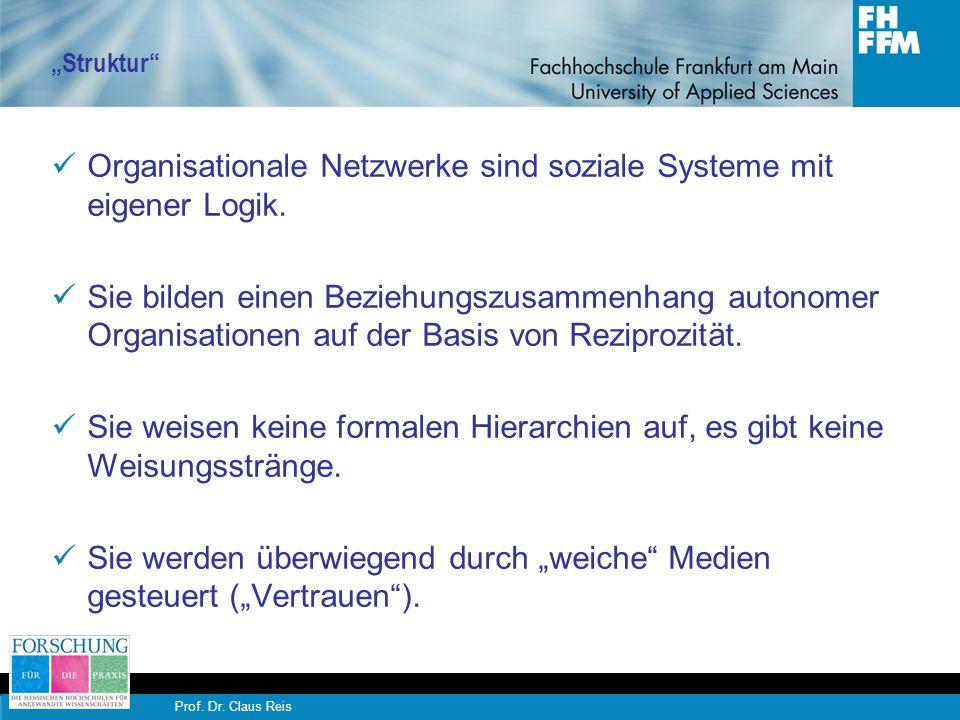 Organisationale Netzwerke sind soziale Systeme mit eigener Logik.