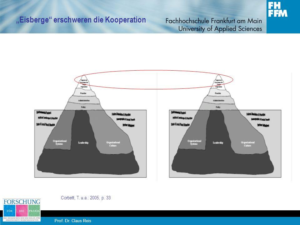 """""""Eisberge erschweren die Kooperation"""