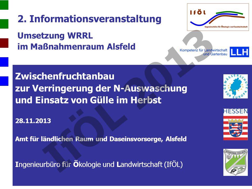 2. Informationsveranstaltung Umsetzung WRRL im Maßnahmenraum Alsfeld