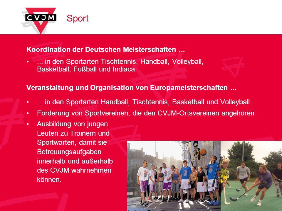 Sport Koordination der Deutschen Meisterschaften ...