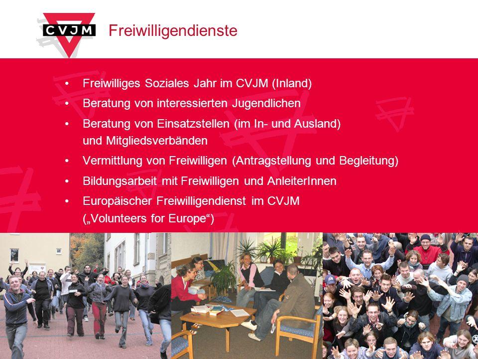 Freiwilligendienste Freiwilliges Soziales Jahr im CVJM (Inland)