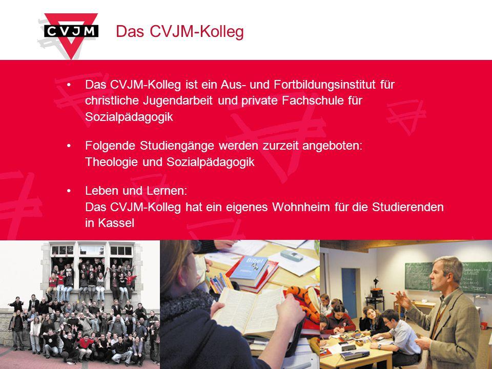 Das CVJM-Kolleg Das CVJM-Kolleg ist ein Aus- und Fortbildungsinstitut für christliche Jugendarbeit und private Fachschule für Sozialpädagogik.