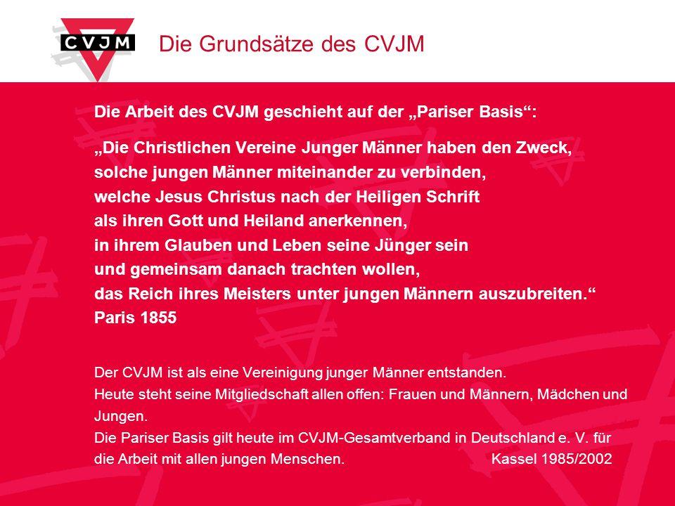 Die Grundsätze des CVJM