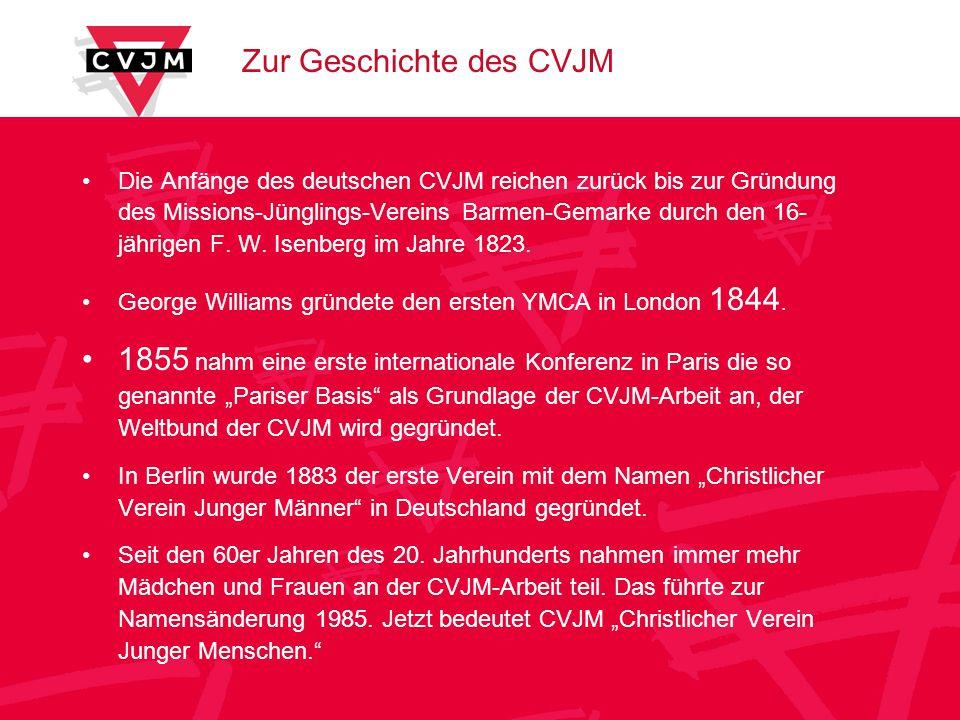 Zur Geschichte des CVJM