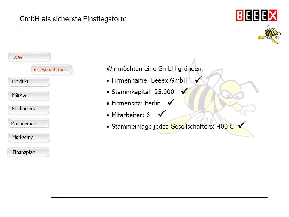      GmbH als sicherste Einstiegsform
