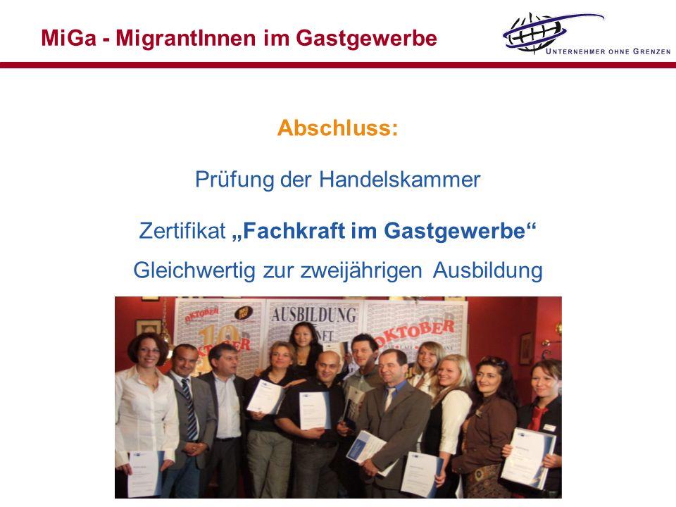 MiGa - MigrantInnen im Gastgewerbe