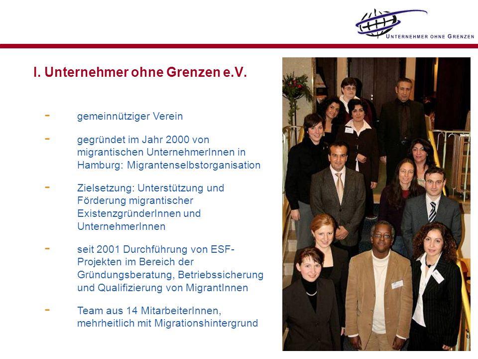 I. Unternehmer ohne Grenzen e.V.