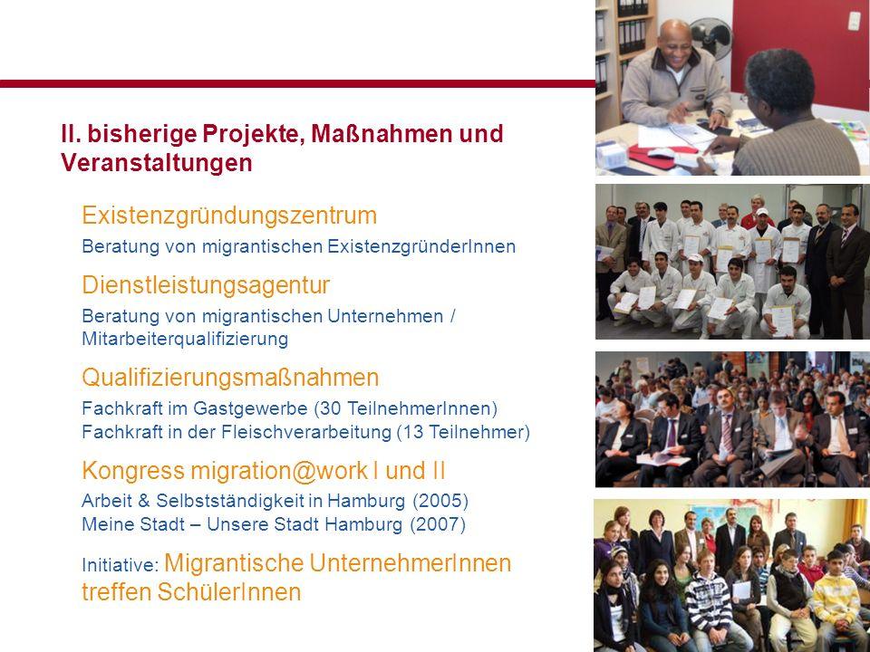 II. bisherige Projekte, Maßnahmen und Veranstaltungen