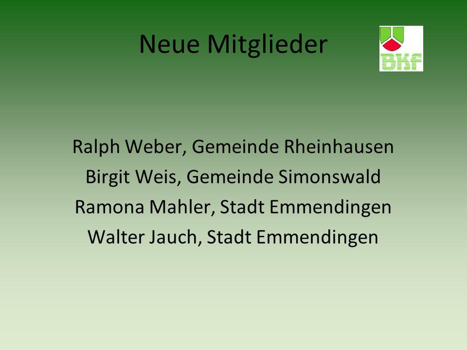 Neue Mitglieder Ralph Weber, Gemeinde Rheinhausen