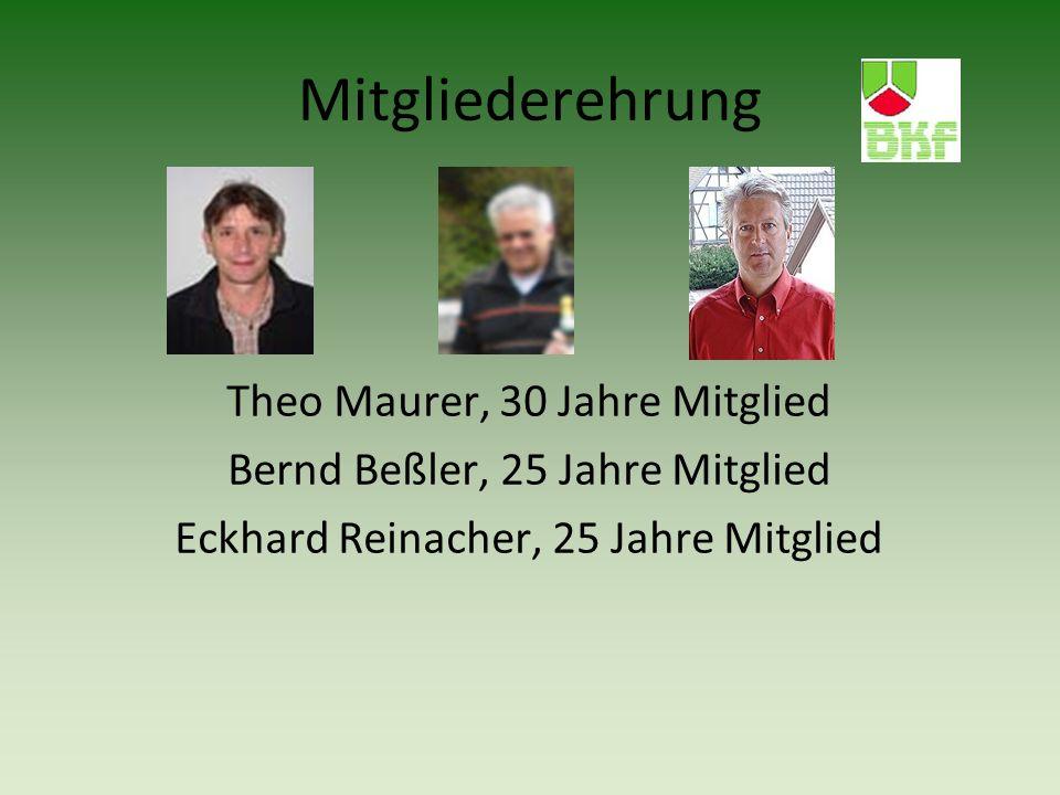 Mitgliederehrung Theo Maurer, 30 Jahre Mitglied