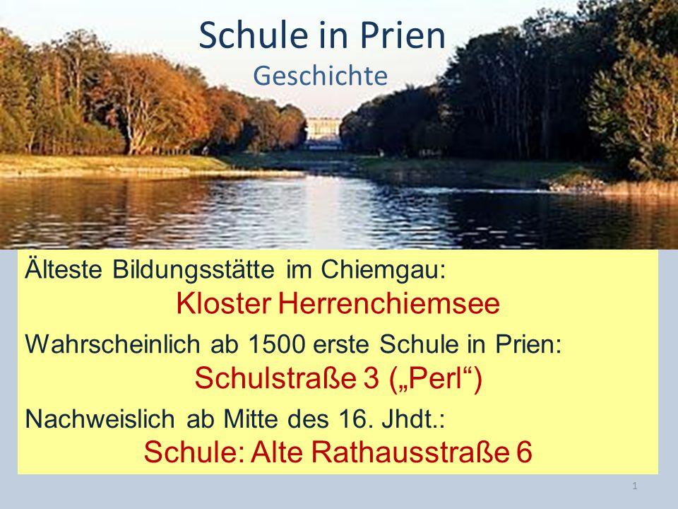 Schule in Prien Geschichte Kloster Herrenchiemsee